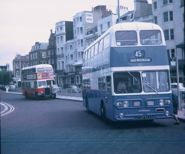 Two Brighton Buses at Old Steine