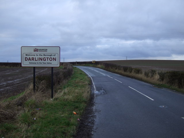Entering the Borough of Darlington