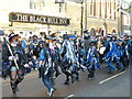 TL2697 : Black and blue dancers - Whittlesea Straw Bear Festival 2013 by Richard Humphrey