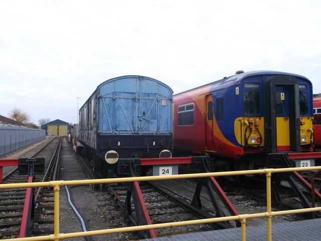 Sidings and carriages, Wimbledon traincare depot