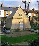 TQ2075 : Burton's tent: the Burton mausoleum, Mortlake by Stefan Czapski