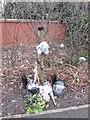 TA0834 : A roadside memorial on Runnymede Way, Kingwood by Ian S