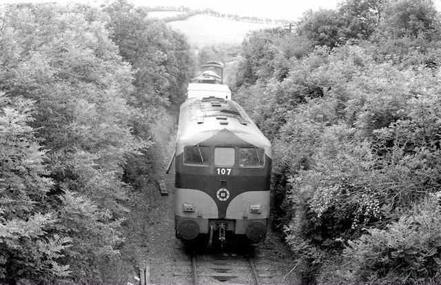 Weed spraying train near Nobber