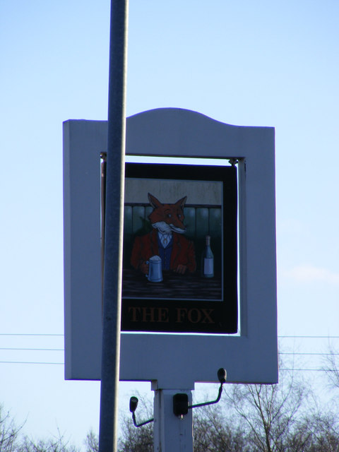 The Fox Public House sign, Kinsbourne Green