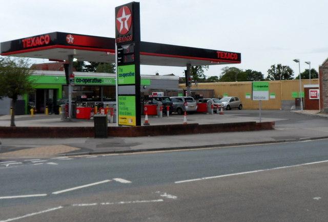 Texaco filling station and Co-operative Food store, Shirehampton, Bristol