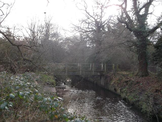 Footbridge over Beverley Brook, Wimbledon Common