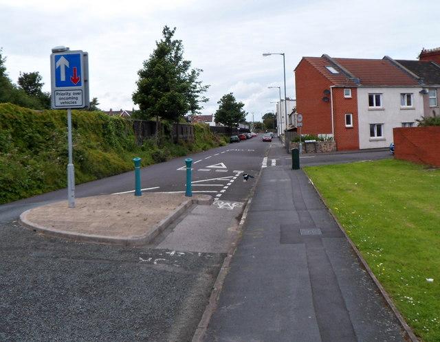 Traffic calming on Portview Road, Avonmouth, Bristol