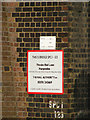 TL1217 : Thrales End Lane Railway Bridge sign by Adrian Cable