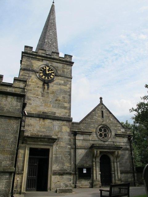 All Saints Church, Church Road, TN6 - tower, spire and entrance