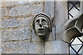 SK8652 : Carved head, All Saints' church, Barnby in the Willows by J.Hannan-Briggs