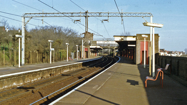 Chalkwell station, 1990