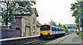 SK0579 : Chapel-en-le-Frith (South) station, with DMU, 1992 by Ben Brooksbank
