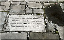 SD3129 : Poem on a paving stone by Gerald England