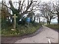 SX7198 : Hillerton Cross by David Smith