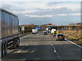 SP2662 : Northbound M40 approaching Junction 15 by David Dixon