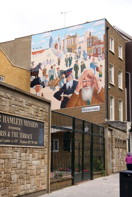 Mural on the Tower Hamlets Mission