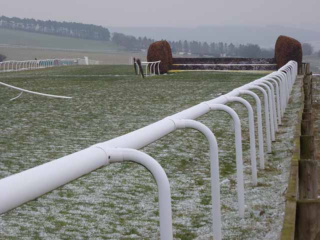 Fence and rails on Hexham racecourse