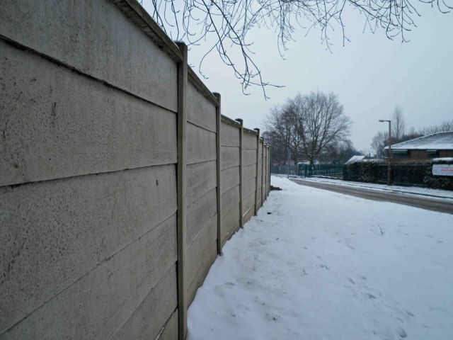 Boundary fence to the Cricket ground Darfield
