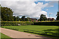 TQ2550 : Reigate Priory croquet lawn by Ian Capper