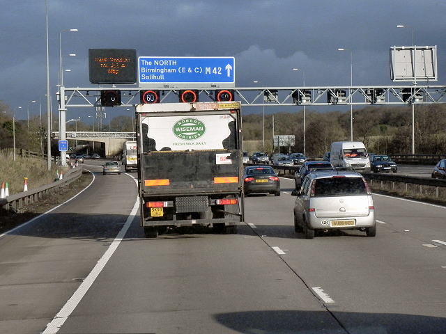 Northbound M42, Overhead Sign Gantry