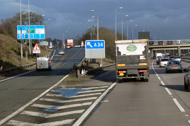 Northbound M42, exit at Junction 4