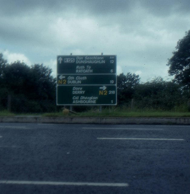 Junction south of Ashbourne, N2