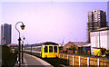 TQ4379 : Train arriving at North Woolwich by Malc McDonald