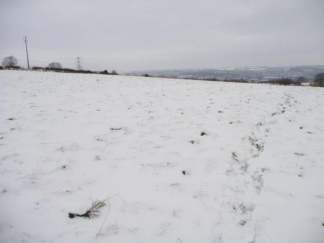 Snowy hillside, east of Golgreave