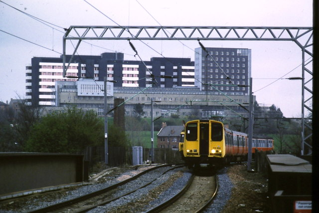 Trains passing at Partick