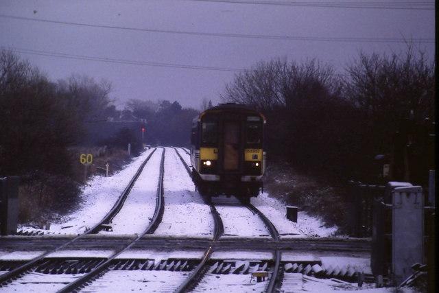In the snow near Eaglescliffe