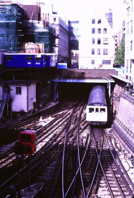 Railway junction at Aldgate