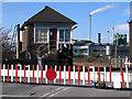 NZ4014 : Factory beyond railway at Urlay Nook by Trevor Littlewood