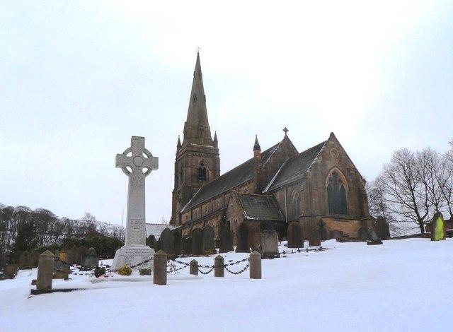 St Peter's Church & War Memorial - Belmont