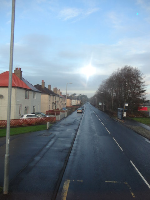 Kilwinning viewed from number 11 bus