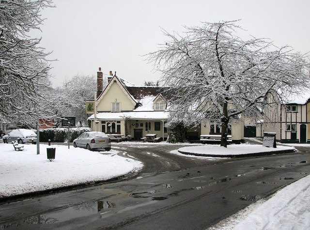 Grantchester: snow and The Green Man