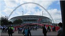TQ1985 : Wembley Stadium from Wembley Walk by J WILLIAMS