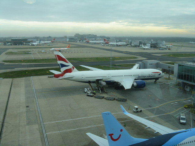 Gatwick Airport  from the North Terminal bridge