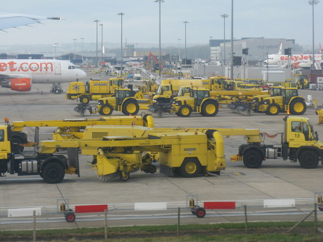 Snow clearing equipment at Gatwick Airport