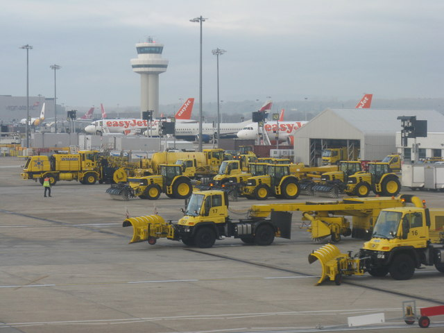 Snow ploughs, easyJets and ATC tower