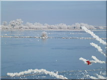 TL5392 : Ice blue - The Ouse Washes near Welney by Richard Humphrey