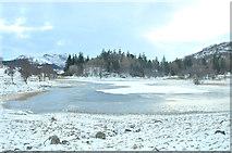 NN6795 : Lochain Uvie partially frozen by Steven Brown