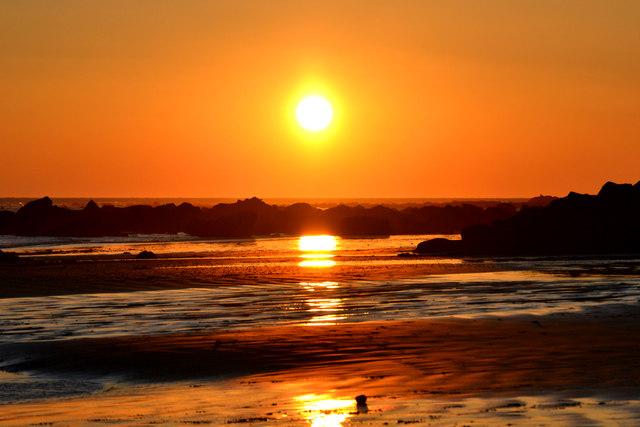 Sunset over Bonchurch Beach, Isle of Wight