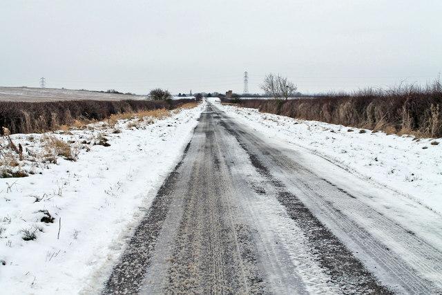 Snowy road hazards