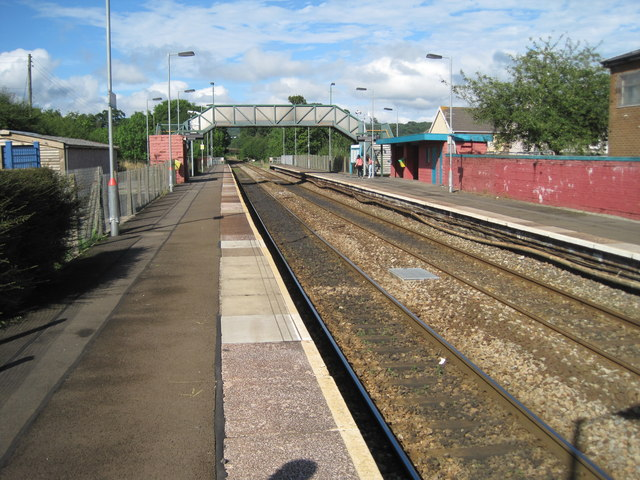 Pengam railway station, Gwent by Nigel Thompson