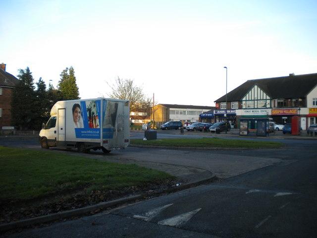 Shirestone Road turning circle, Tile Cross