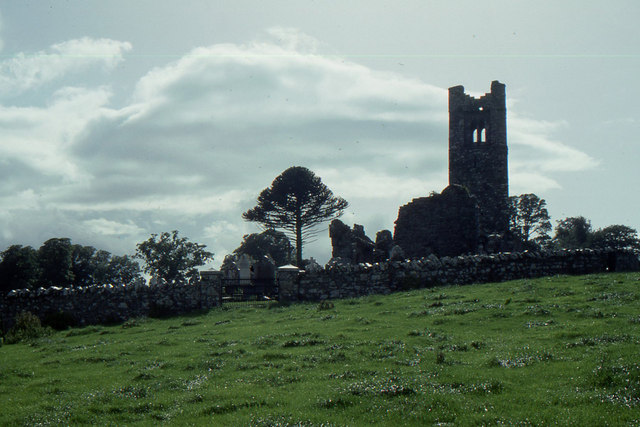 Ruined abbey, on the Hill of Slane