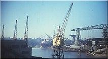 NZ4057 : Sunderland Harbour, 1967 by Derek Harper