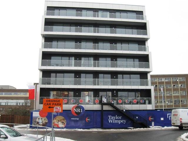 New flats, Carrow Road,NR1