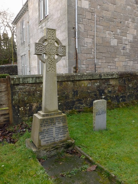War Memorial from Dalreoch Church