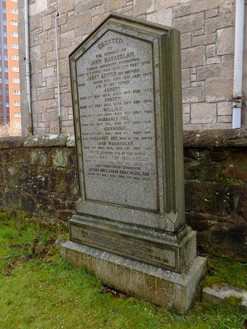 Dumbarton West Kirk: the MacAuslan Memorial